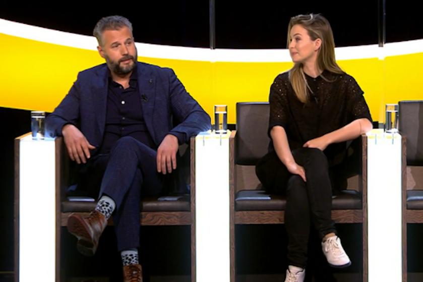 Twitter smult van 'seksuele spanning' en geflirt tussen Tijl Beckand en Melissa Drost in 'De Slimste Mens'