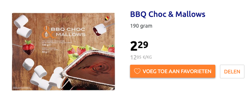 Action chocoladefondue bbq