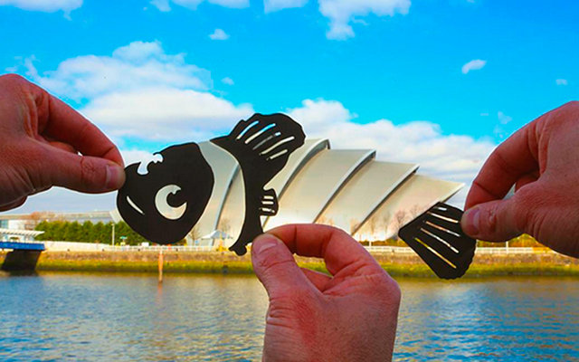 Londense fotograaf maakt met papieren knipsels kunstwerkjes van landschappen