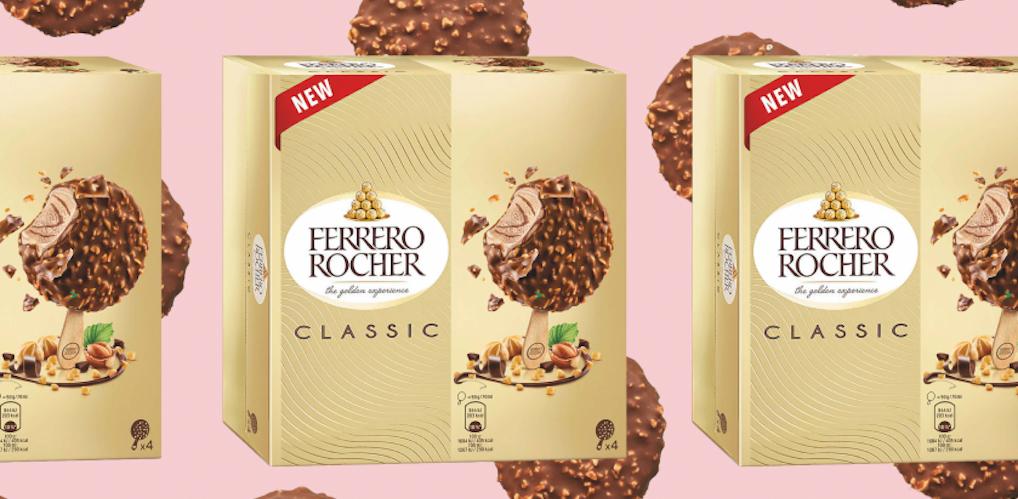 Er bestaan nu Ferrero Rocher Ice Cream Sticks en it's all you want