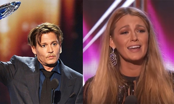 Blake Lively en Johnny Depp geven emotionele speech tijdens de People's Choice Awards 2017