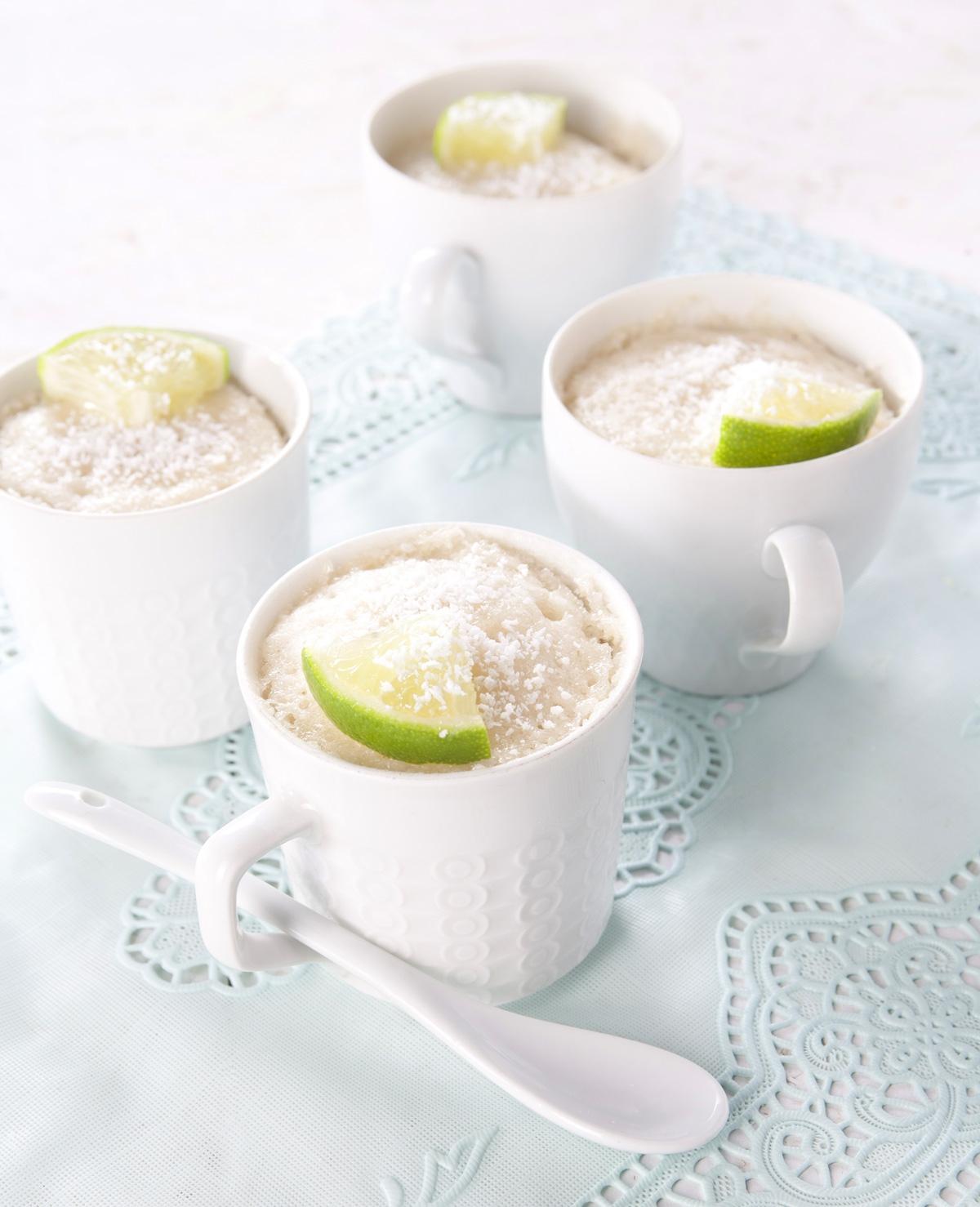 Traktatietip: limoen-kokos mug cake