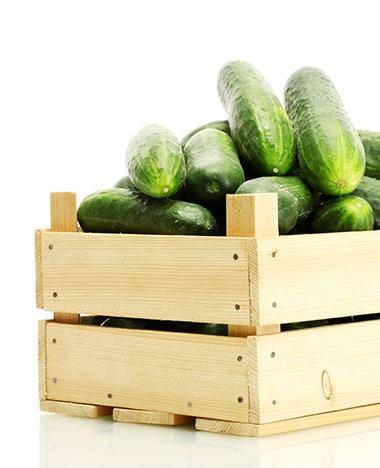Schoonmaken met komkommer