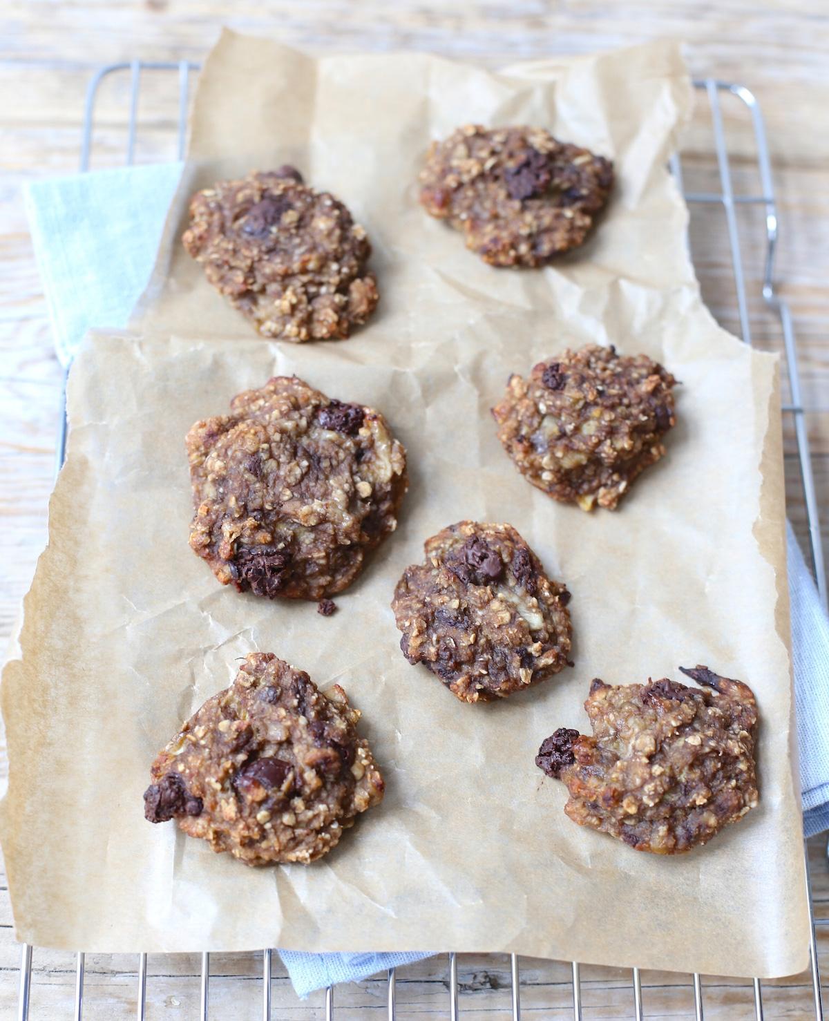 Gezonde koekjes met chocolade