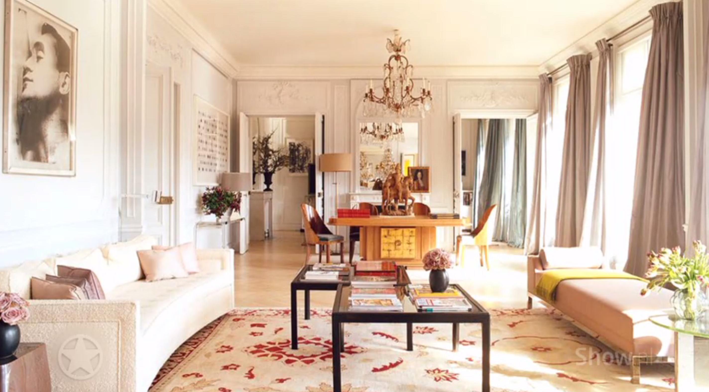 Binnenkijken bij het luxe Parijse appartement van Mick Jagger