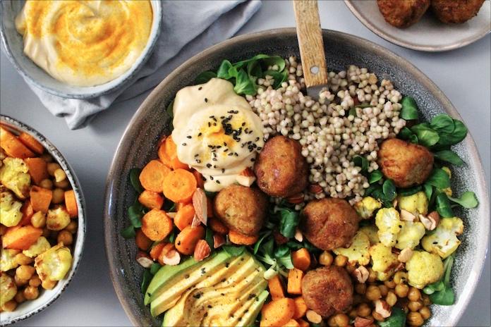 Nationale Week Zonder Vlees – recept: vegetarische falafel bowl