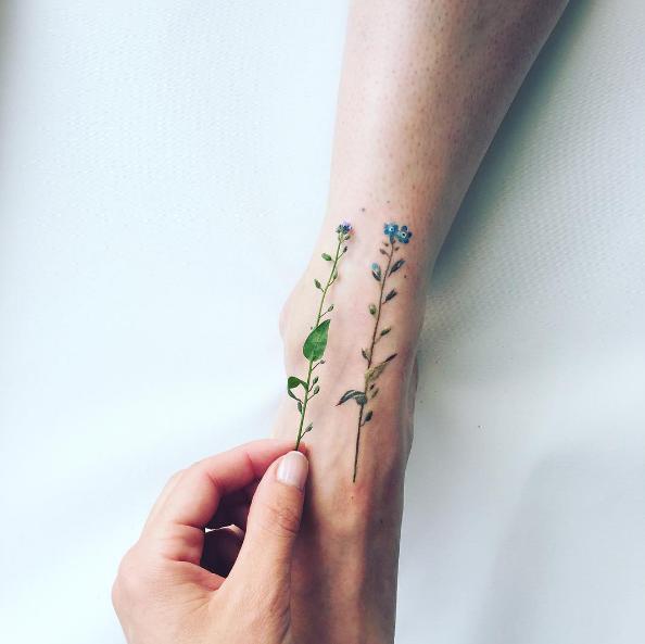 Wow, de mooiste planten – en bloemen tattoos!