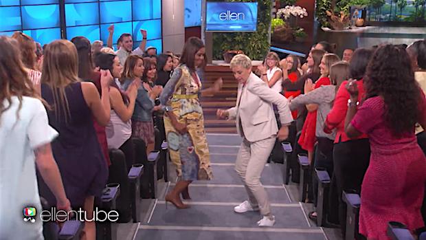 Video: Michelle Obama laat dansmoves zien bij Ellen DeGeneres