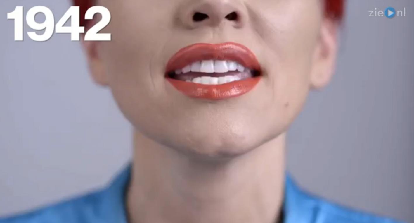 Zien: 100 jaar aan lippenstift trends!
