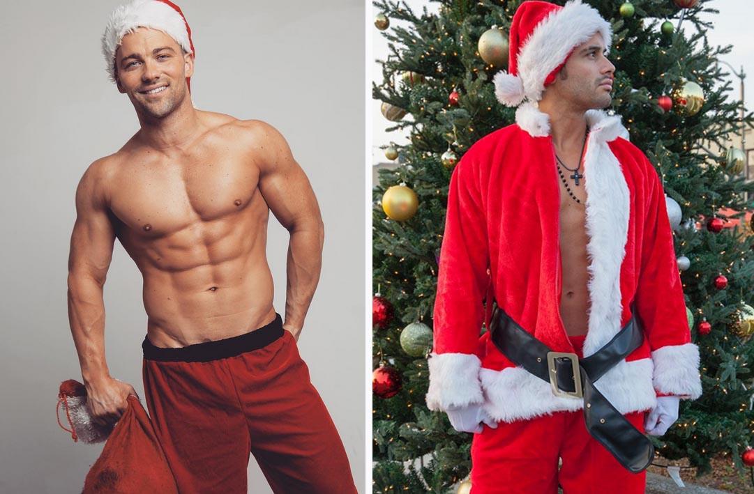 Oelala! Bij deze sexy kerstmannen willen wij wel op schoot zitten!