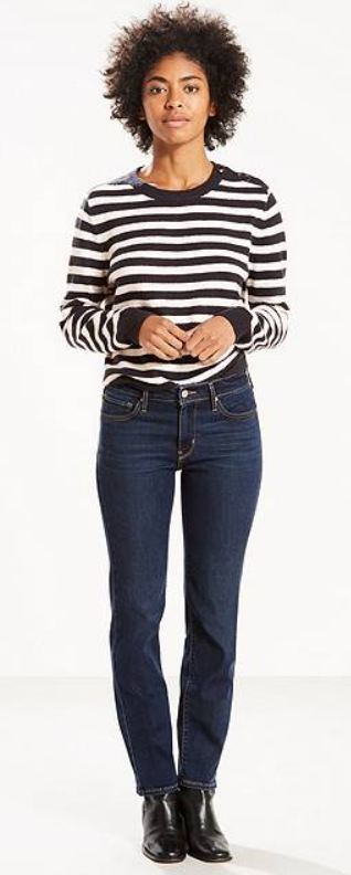 Jeans met rechte pijp
