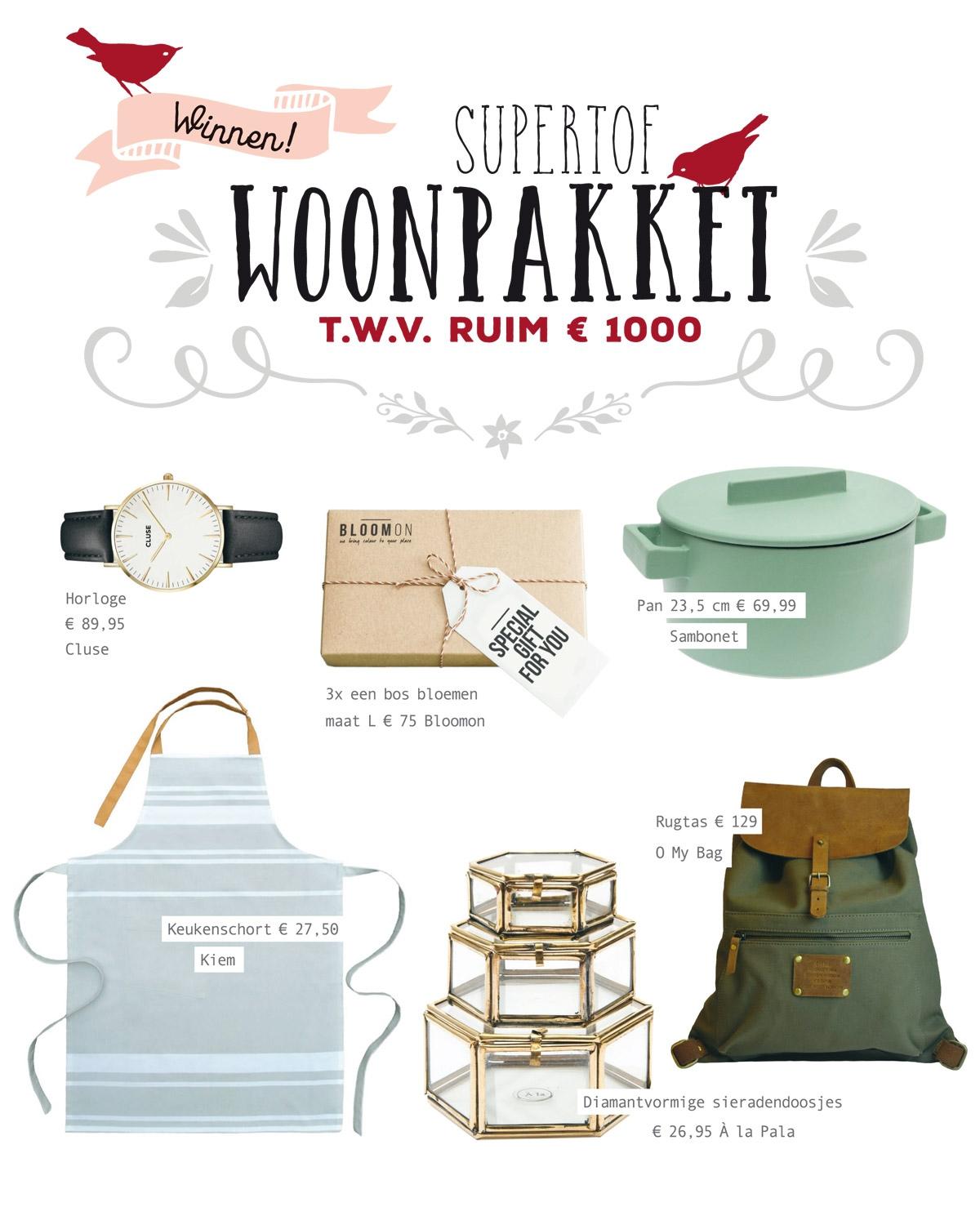 Win een woonpakket t.w.v. ruim €1.000 van Living.nl