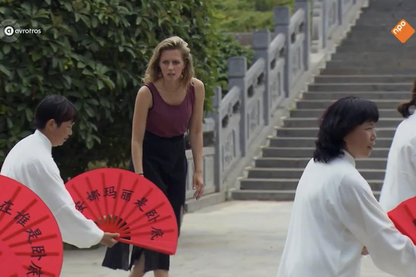 #Tunnelvisie: verwarring bij fans 'Wie is de Mol?' door waaiers vol Chinese tekens
