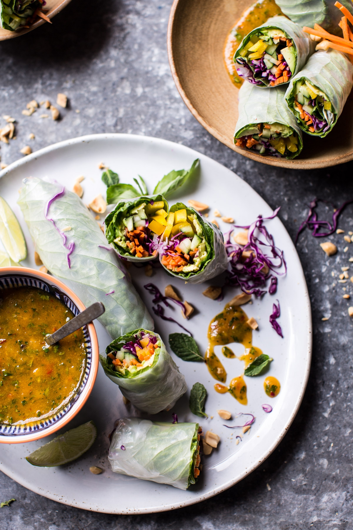 Avocado-Veggie-Spring-Rolls-with-Sweet-Thai-Mango-Sauce-1