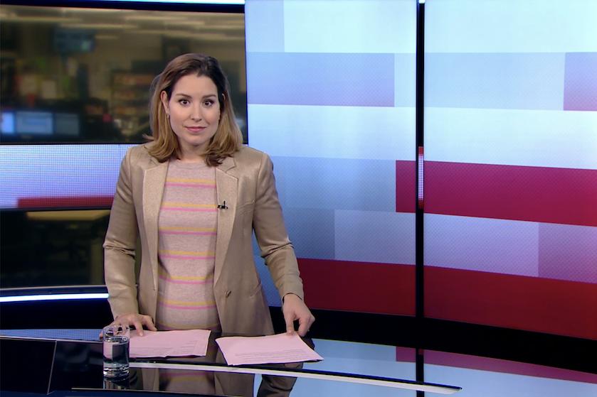 Extreem kort 'NOS Journaal': uitzending noodgedwongen afgekapt door zwangerschap Amber Brantsen