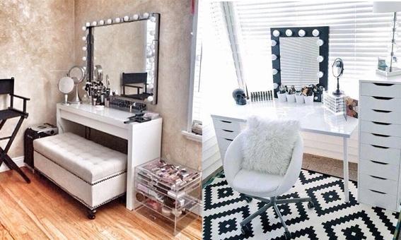 PINSPIRATION: Creëer je eigen make-uphoekje in huis