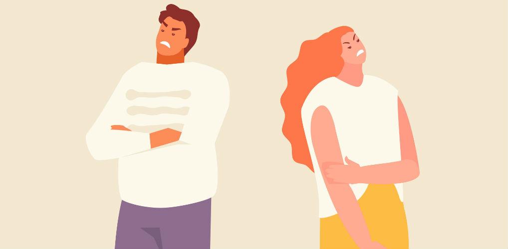 Waarom elkaar negeren tijdens een ruzie echt not done is