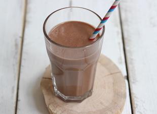 Banaan-chocolade milkshake