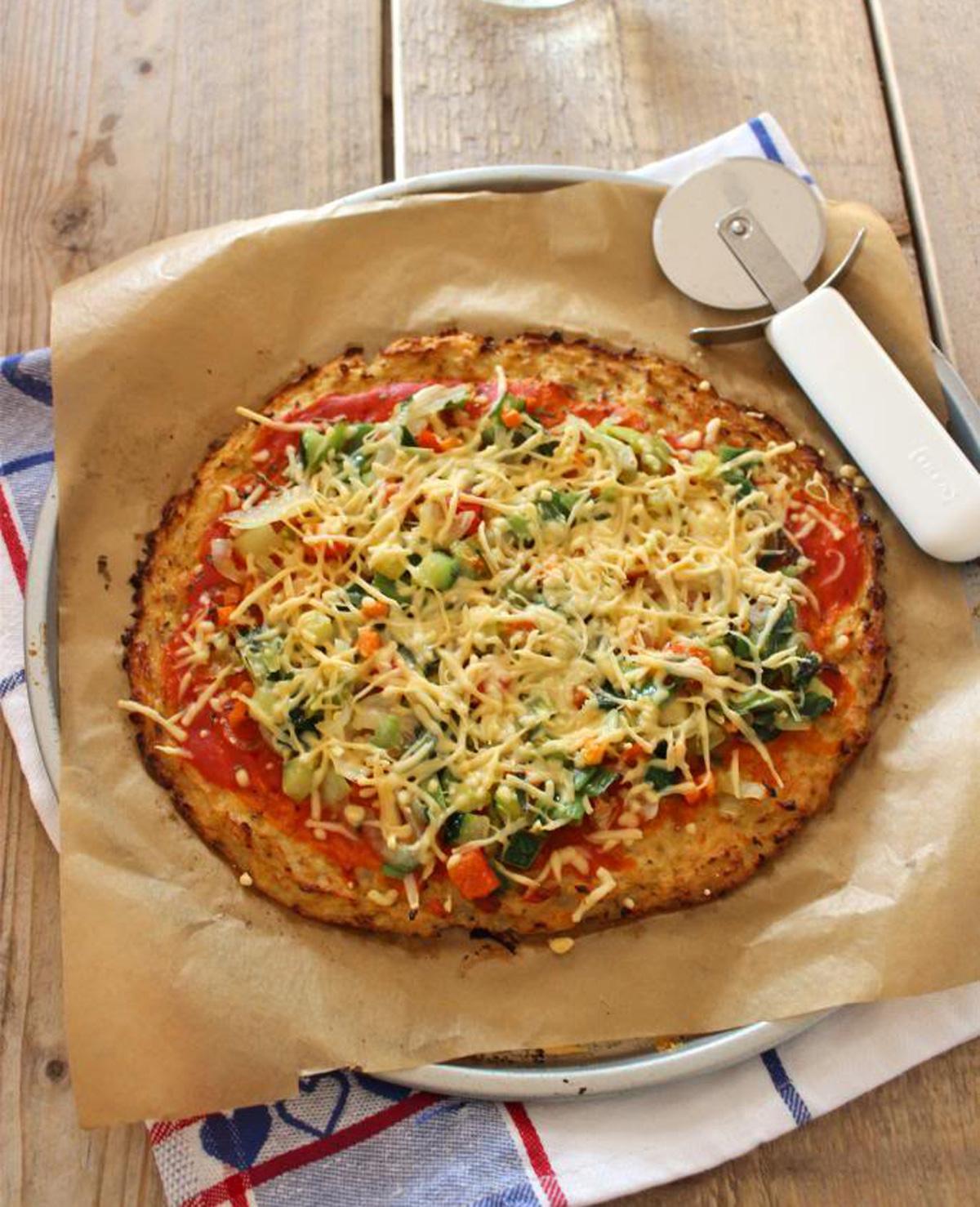 Gezondere variant op de pizzabodem