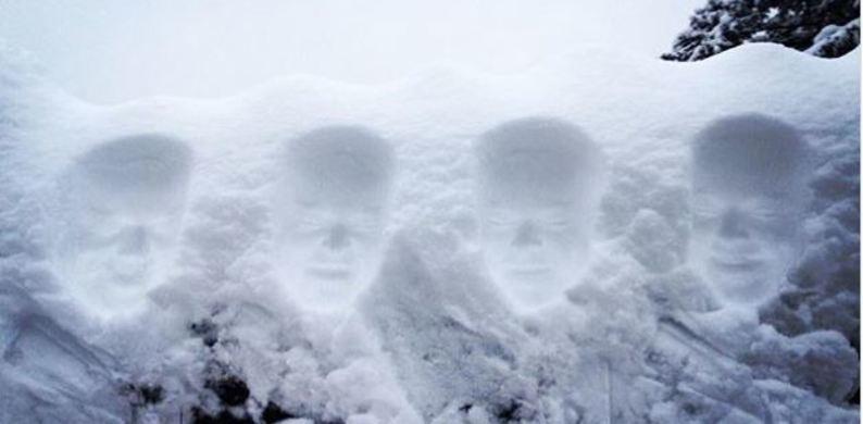 Sneeuwengelen 2.0: de snow face is nu de trend