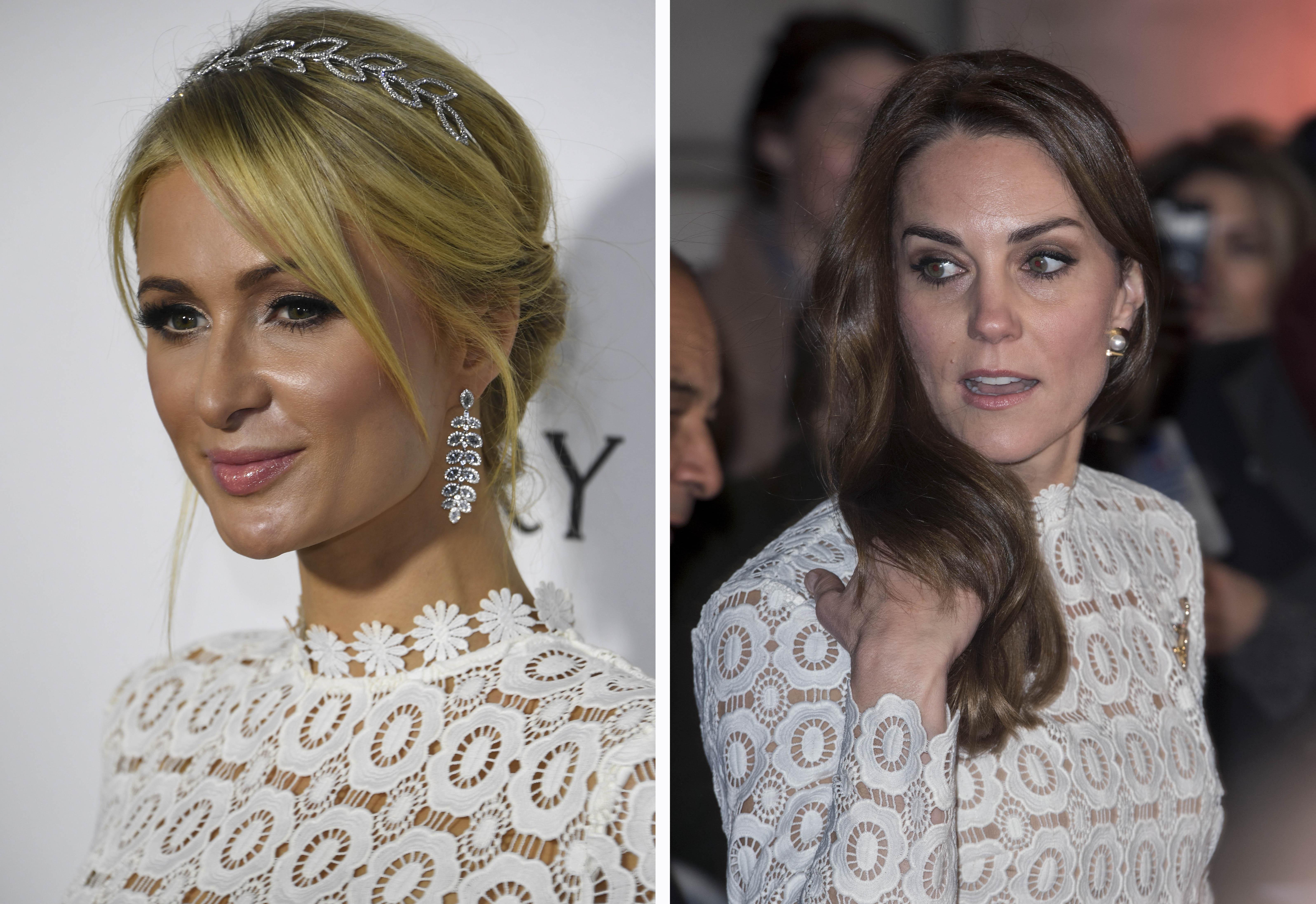 Zien: Kate Middleton in dezelfde jurk als Paris Hilton!
