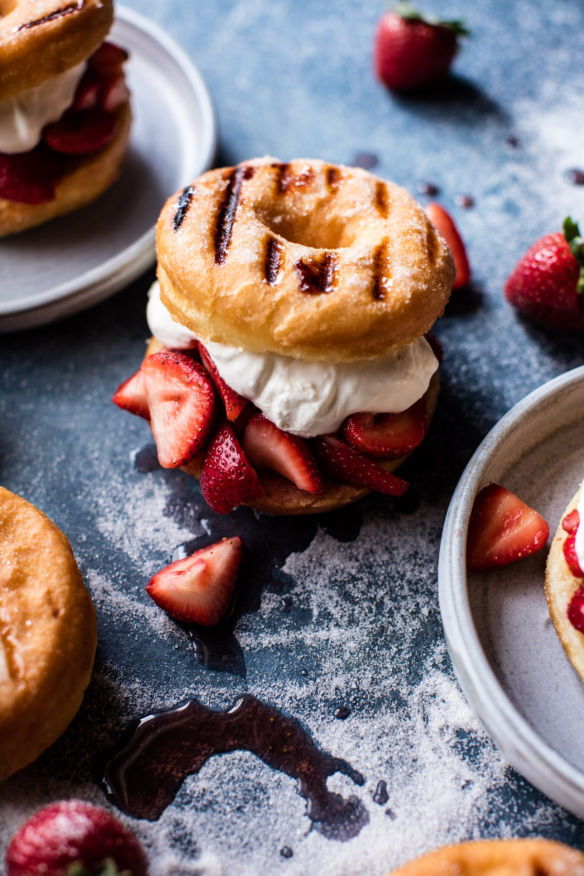 Strawberry-Shortcake-Grilled-Doughnuts-1
