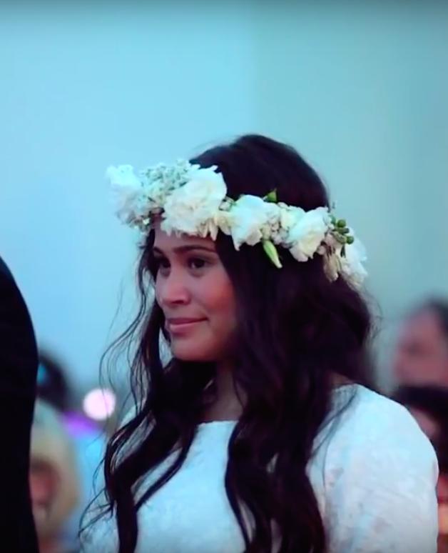 Indrukwekkende haka voor bruidspaar