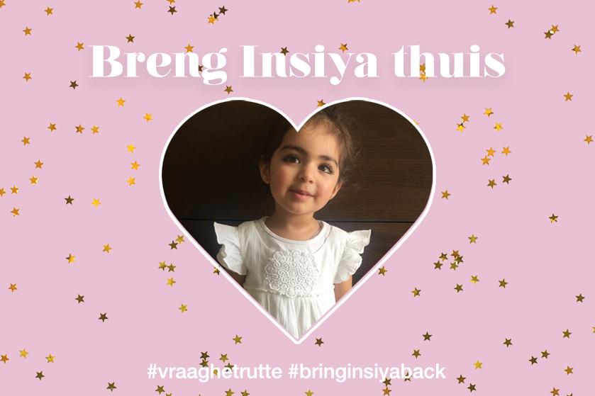Nadia's dochter werd 4 jaar geleden ontvoerd: voer actie met Flair en #BringInsiyaBack