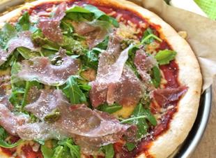 Lekker uit Italië: pizza met parmaham