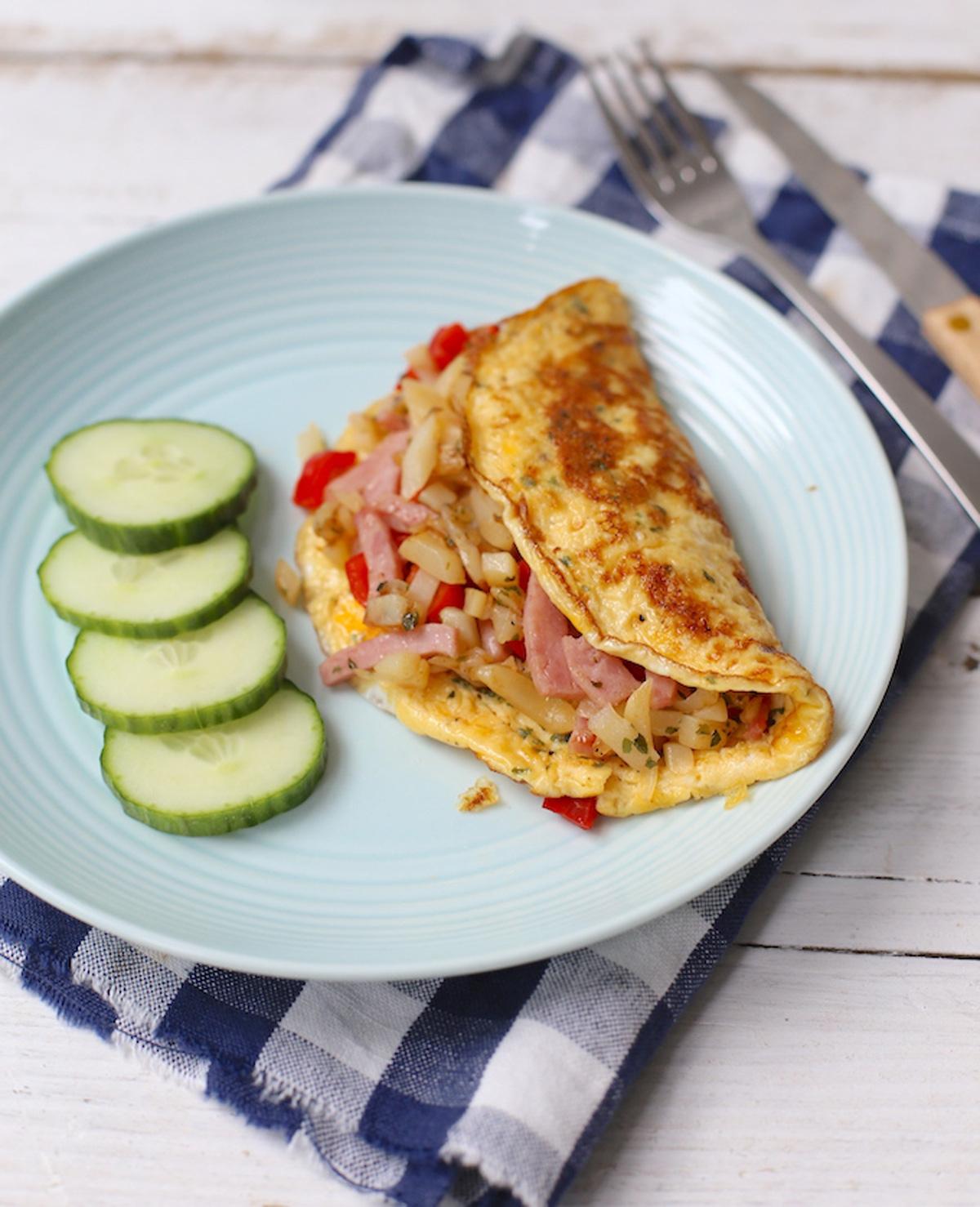Gevulde omelet met rösti
