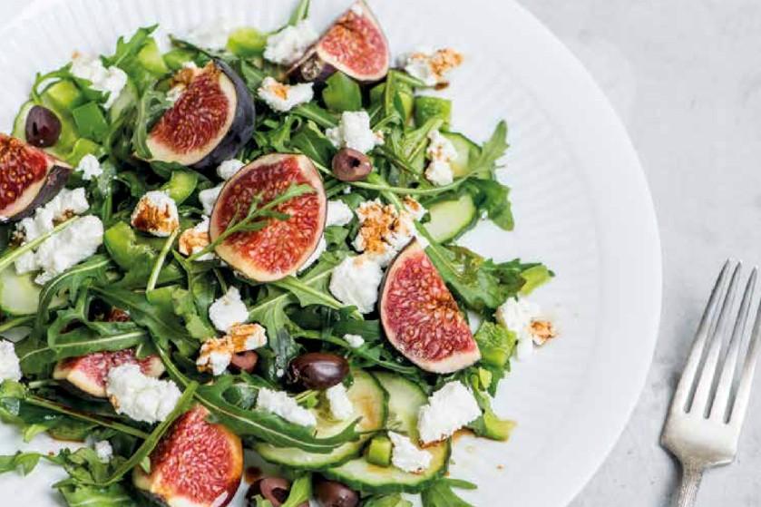 Lekker lunch recept: Salade met vijgen en geitenkaas