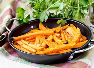 Gezonde zoete aardappel frietjes