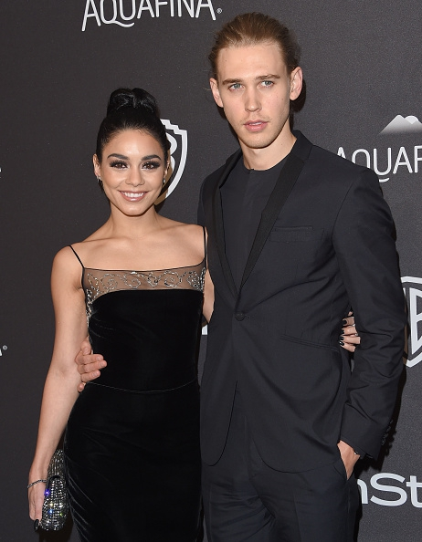 BEVERLY HILLS, CA - JANUARY 10: Actors Vanessa Hudgens and Austin Butler arrive at the 2016 InStyle And Warner Bros. 73rd Annual Golden Globe Awards Post-Party at The Beverly Hilton Hotel on January 10, 2016 in Beverly Hills, California. (Photo by Axelle/Bauer-Griffin/FilmMagic)