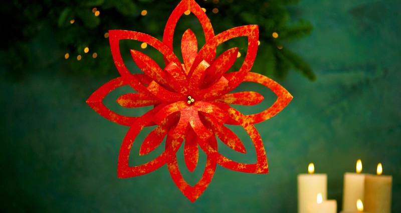 Deze 3D-kerstster maak je makkelijk zelf van 2 vellen papier