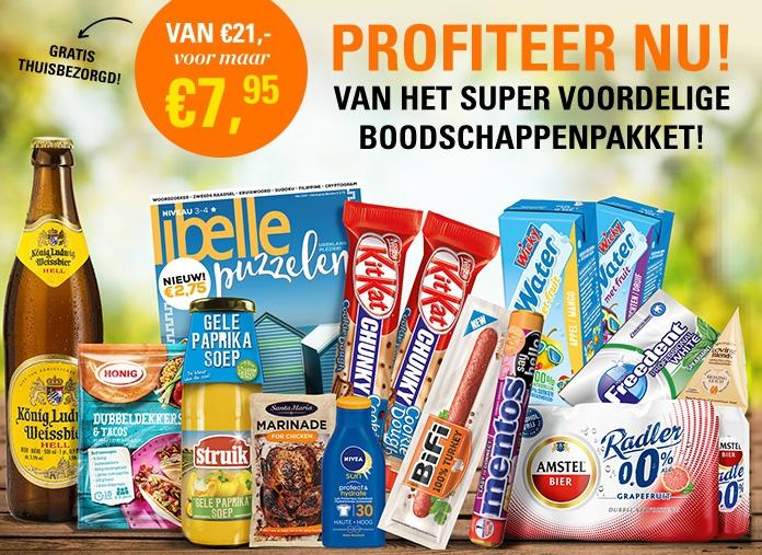 Profiteer nu van dit supervoordelige boodschappenpakket!