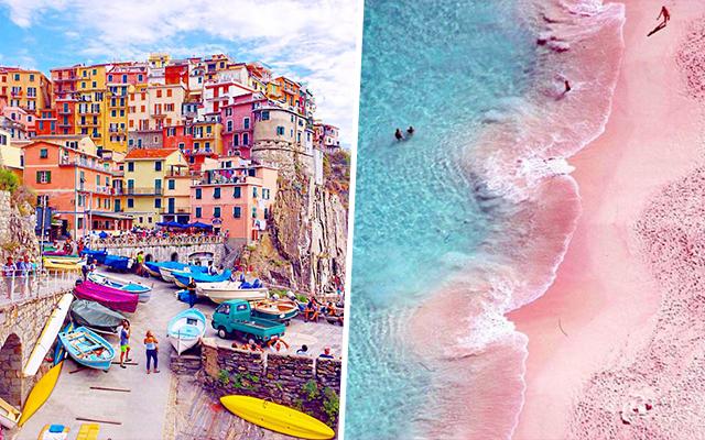 Dit zijn de 15 meest kleurrijke reisbestemmingen op Pinterest