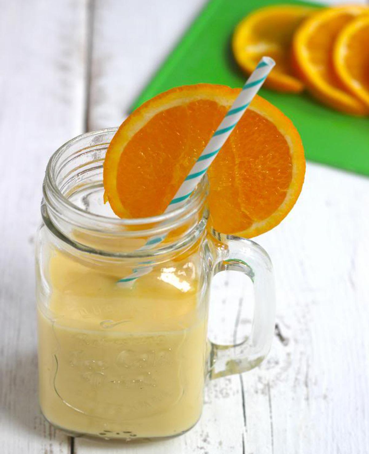 Sinaasappel milkshake