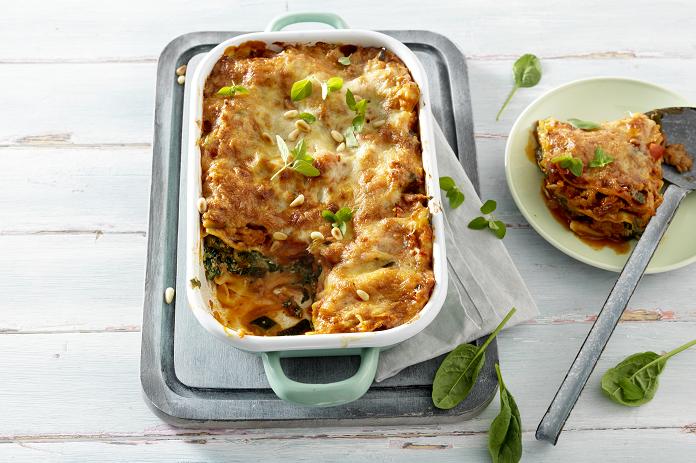 Snelle lasagne met kip, spinazie en ricotta: dat kan je!