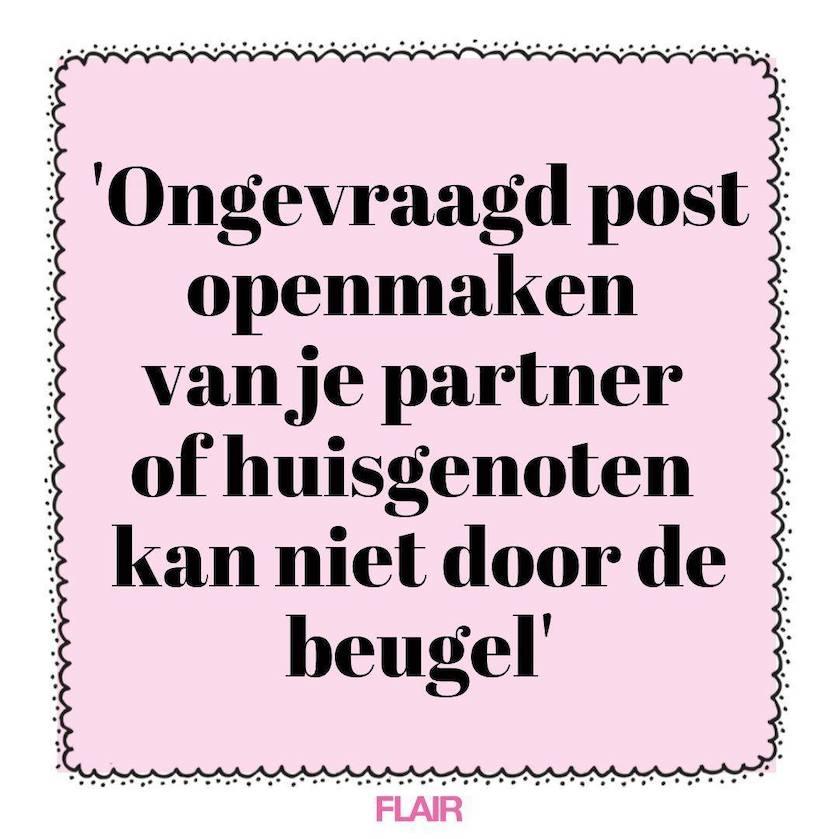 stelling post openen huisgenoten partner