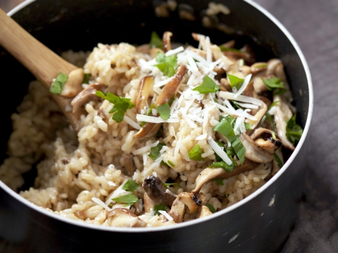 Recept: risotto met bospaddestoelen