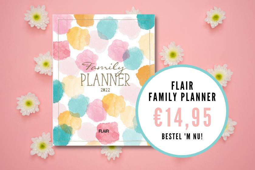 Jaaaaa, plannen maar: de 'Flair Family Planner' 2022 is nú te bestellen