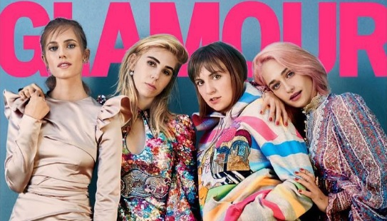 WOW: Lena Dunham toont cellulitis op cover van Glamour