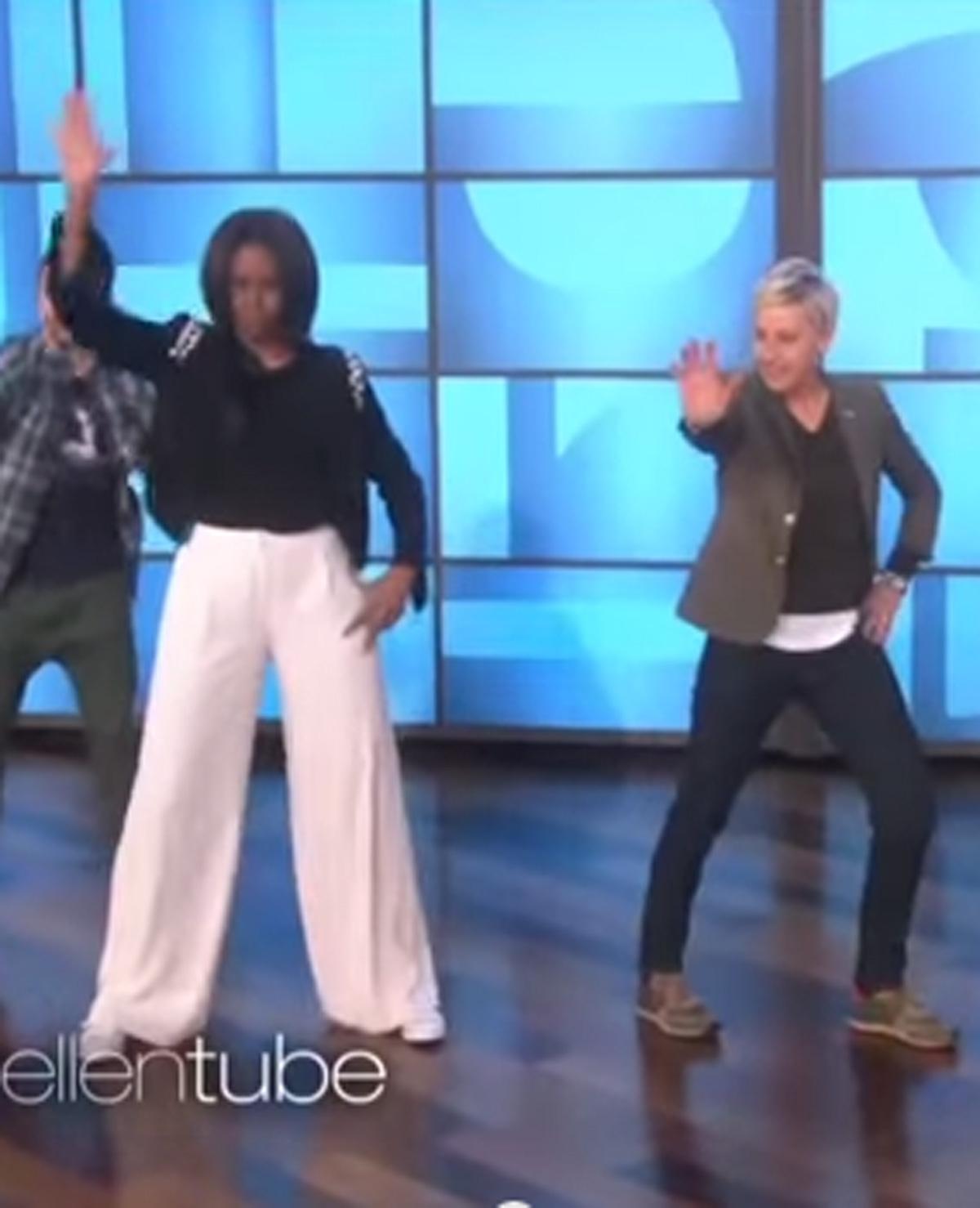 Michelle Obama danst Uptown Funk met Ellen DeGeneres