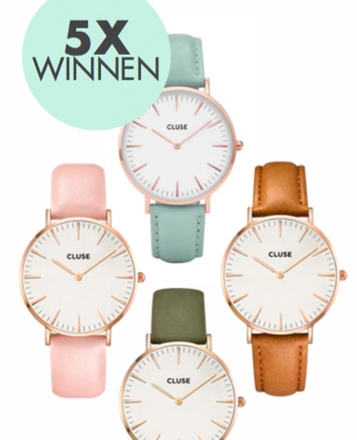 Winnen: 5x Cluse horloge t.w.v. € 89,95!