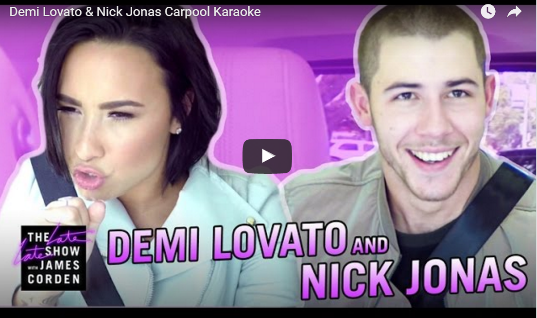 Video: Demi Levato en Nick Jonas in een nieuwe Carpool Karaoke