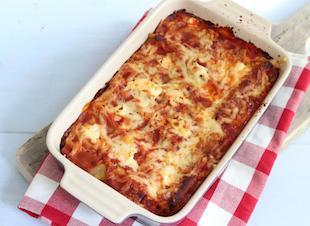 Cannelloni met spinazie, gehakt en ricotta