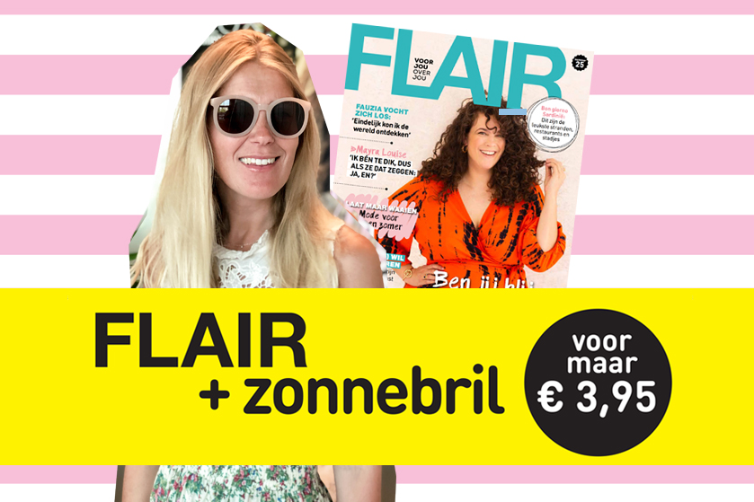 Yay! Scoor alleen vandaag nog een superleuke zonnebril bij aankoop van Flair