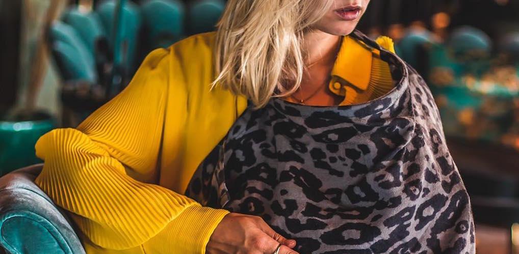 Zo wordt het geven van borstvoeding nóg mooier: Carolien Karthaus-Spoor lanceert merk met luxueuze voedingsshawls