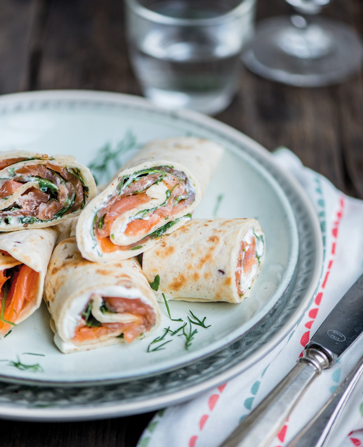 Recept Mieke: Wrap met zalm en rucola