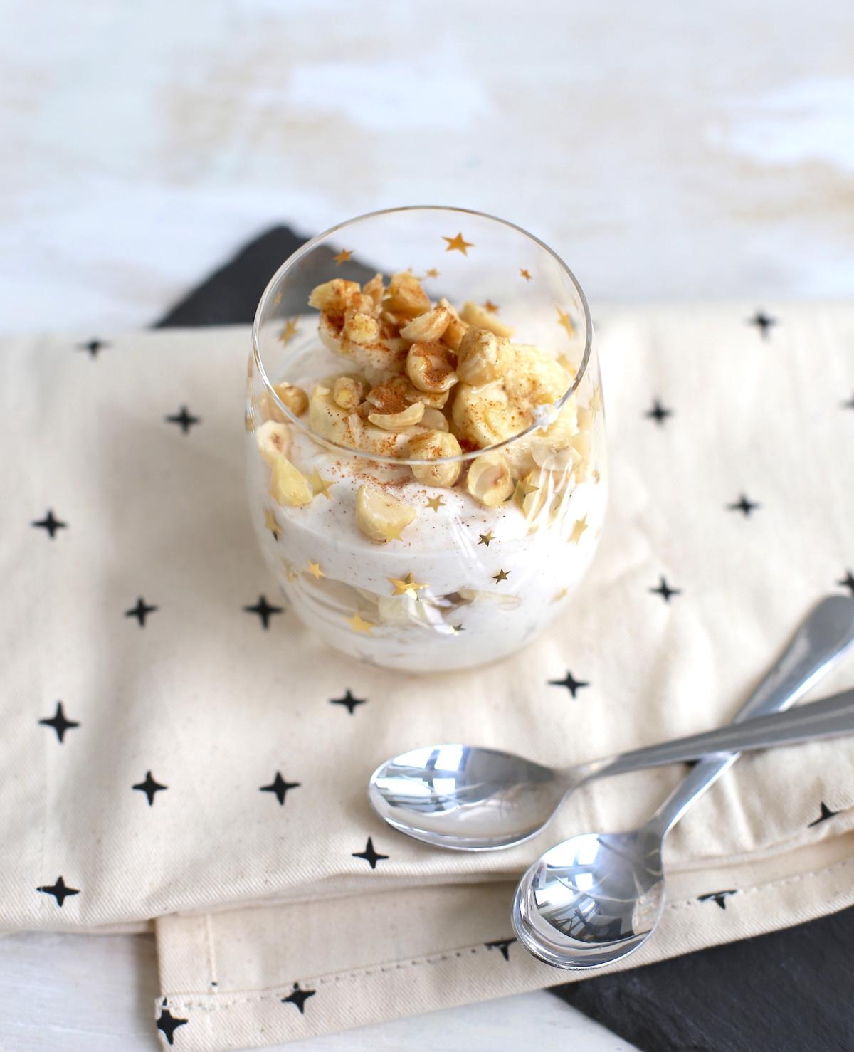 Kwark trifle met banaan